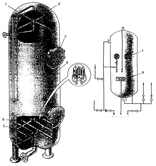 Общий вид и схема обвязки натрий-катионитнова фильтра
