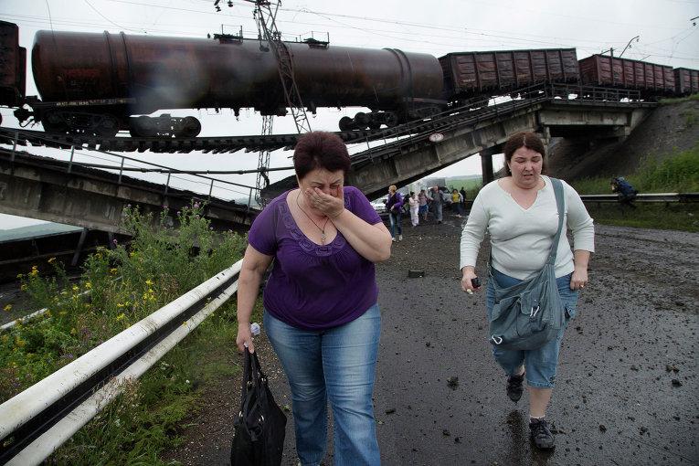 Мост рядом с Луганской ТЭС