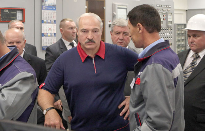 Лукашенко на Березовской ГРЭС