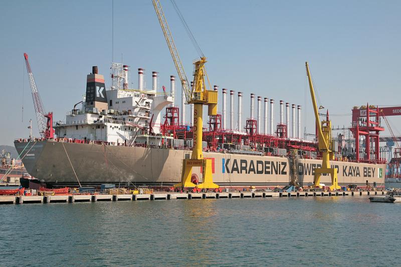 Турецкая плавучая электростанция