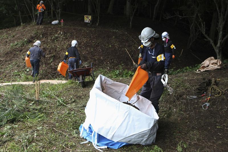 Обеззараживание территории в Фукусиме