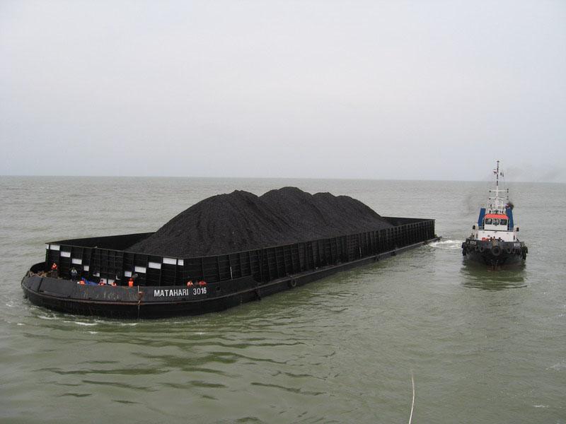 Уголь с ЮАР на корабле