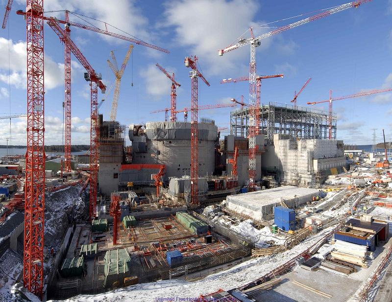 Строительство третьего энергоблока на АЭС Olkiluoto в Финляндии