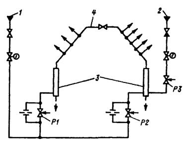 Усовершенствованная схема уплотнений турбины Т-250
