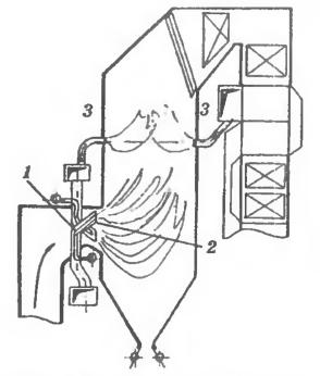 Схема ступенчатого сжигания на котле ТП-230 ТЭЦ-17 Мосэнерго