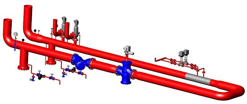 Модель редукционно-охладительной установки