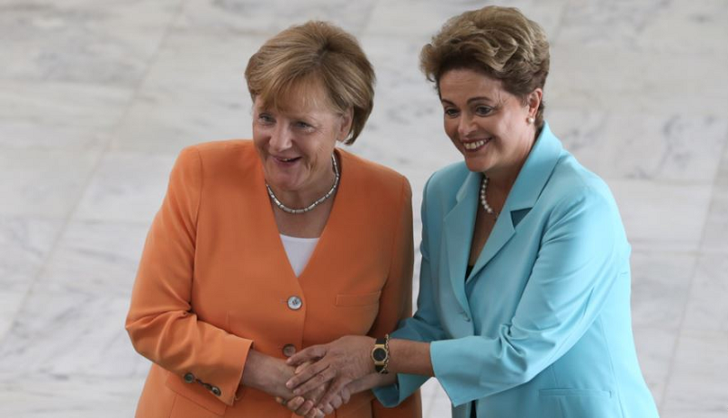 Канцлер Германии Ангела Меркель и президент Бразилии Дилма Руссефф