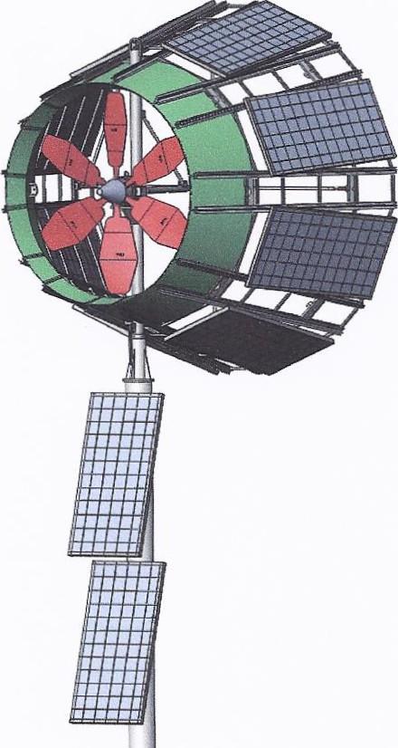 Ветряная турбина Skywolf с технологией DAWT