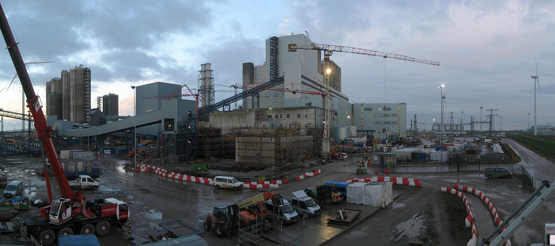 Угольная электростанция на 1600 МВт вблизи порта Эмсхафене в городе Гронингене, Нидерланды