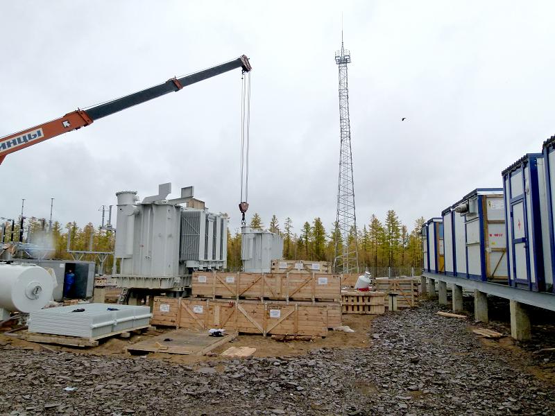Строительство новой высоковольтной подстанции