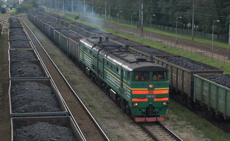 Уголь в вагонах