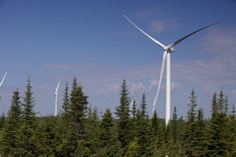 Канадская ветряная электростанция Rivière-du-Moulin