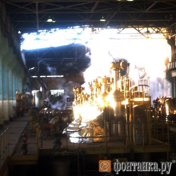 Пожар на Василеостровской ТЭЦ