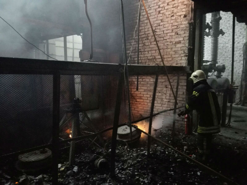 Пожар на Омской ТЭЦ-4