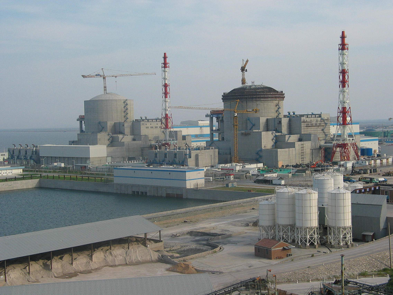 Строительство АЭС Tianwan в Китае