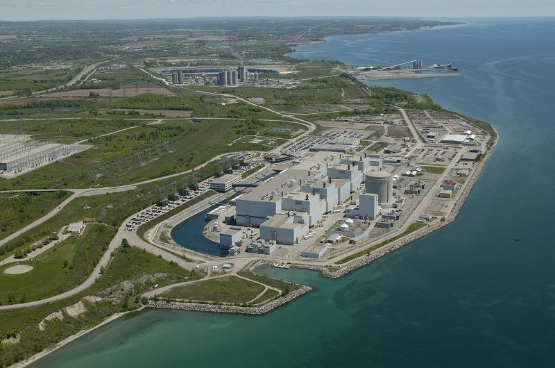 Атомная электростанция Darlington мощностью 3512 МВт, расположенная в канадском городе Кларингтон