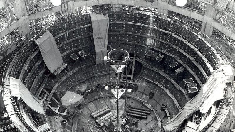 Строительство MAGNOX-реактора на АЭС The Wylfa