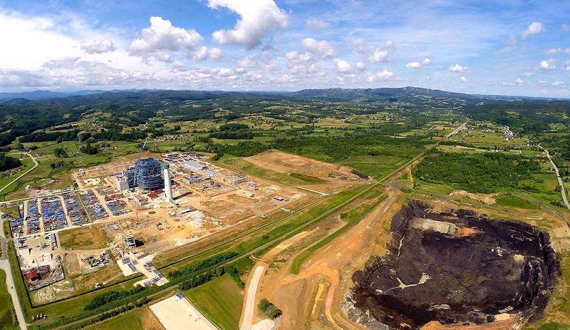 Площадка боснийской угольной ТЭС Stanari