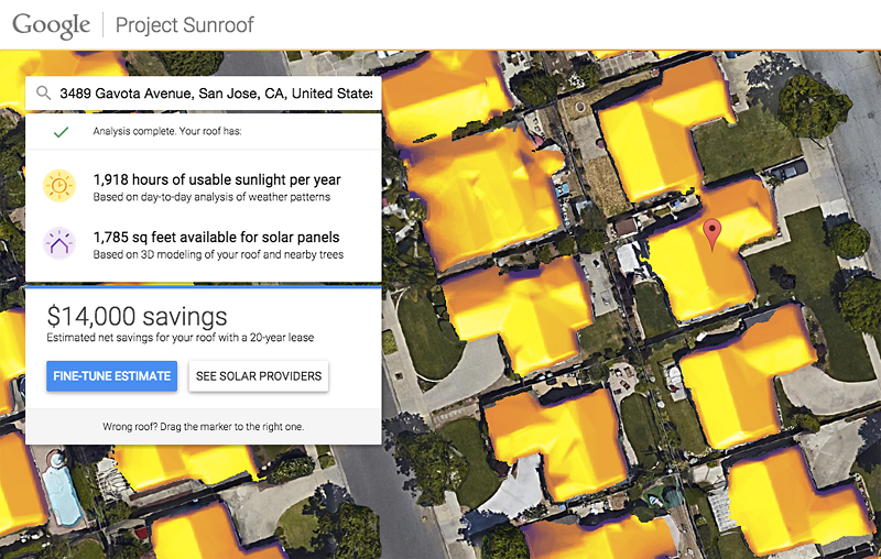 Project Sunroof от Google