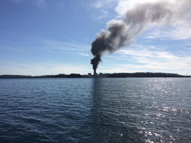Пожар на АЭС Окони в Южной Каролине, США