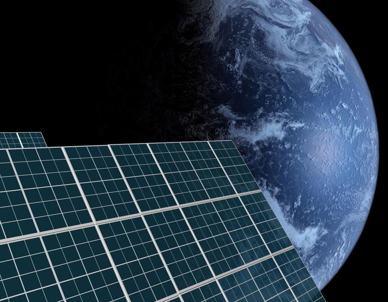 Солнечные панели в космосе