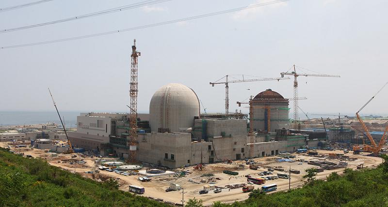 Строящаяся АЭС Shin Hanul в Южной Кореи