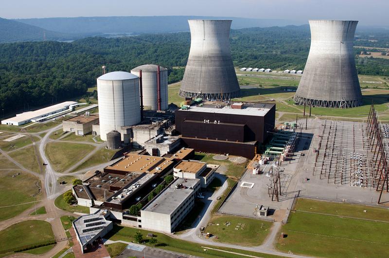 Недостроенная атомная электростанция Bellefonte в штате Алабама, США