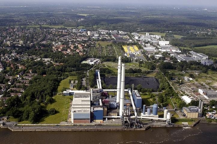Угольная электростанция DHP Wedel в Гамбурге, Германия
