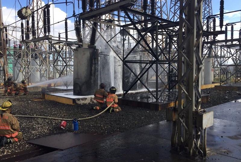Пожар на электростанции в Пуэрто-Рико
