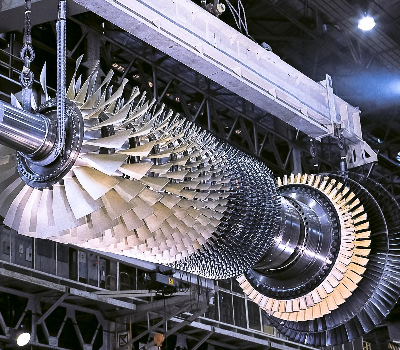 Ротор с лопатками газовой турбины Mitsubishi M501J