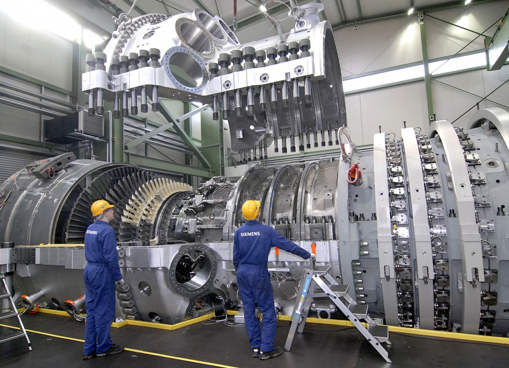 Монтаж газовой турбины Siemens SGT5-8000H