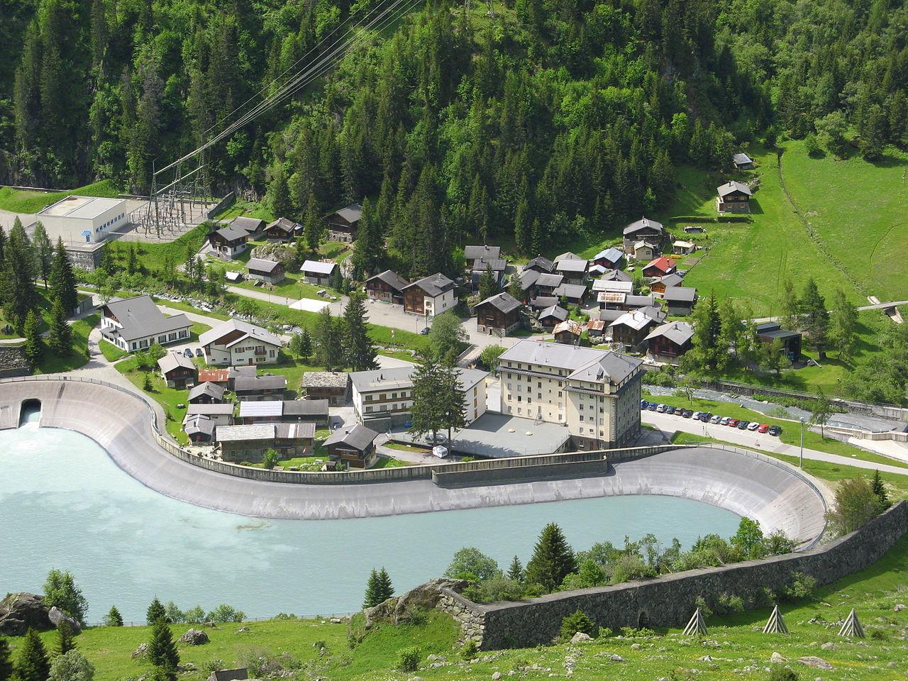ГЭС в Швейцарии Fionnay