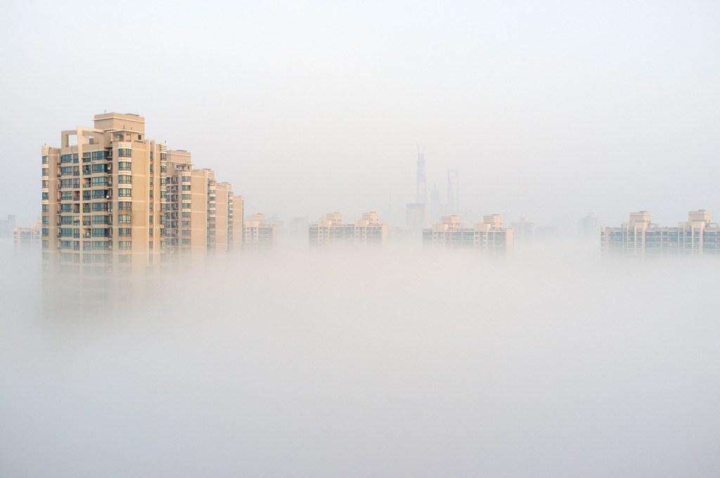 Смог в китайском городе