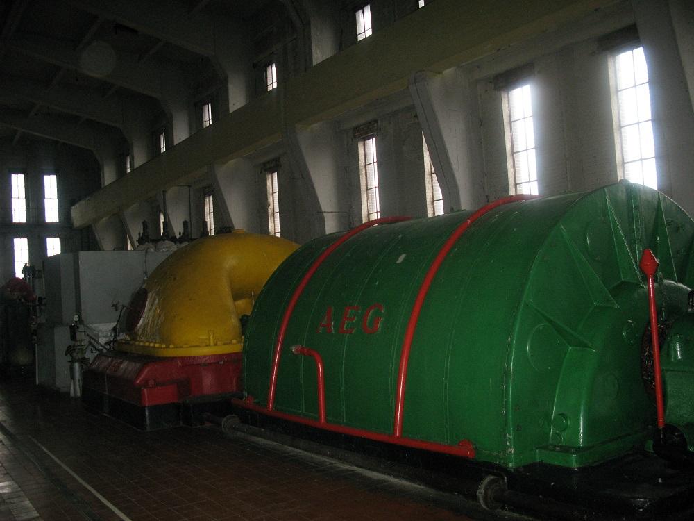 Трофейный турбогенератор AEG на ГРЭС-2 в городе Светлый