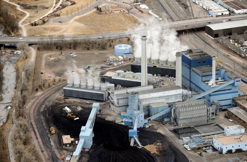 Угольная электростанция в США Martin Drake