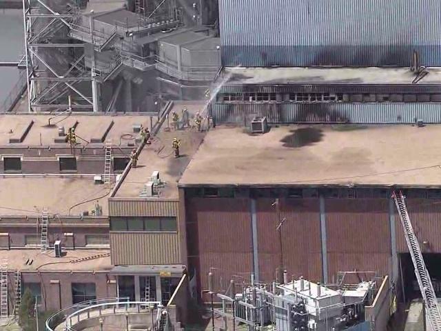 Пожар на угольной электростанции в США Martin Drake