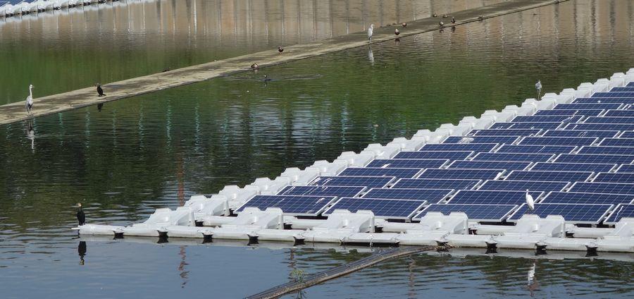 Плавающая солнечная электростанция в Японии