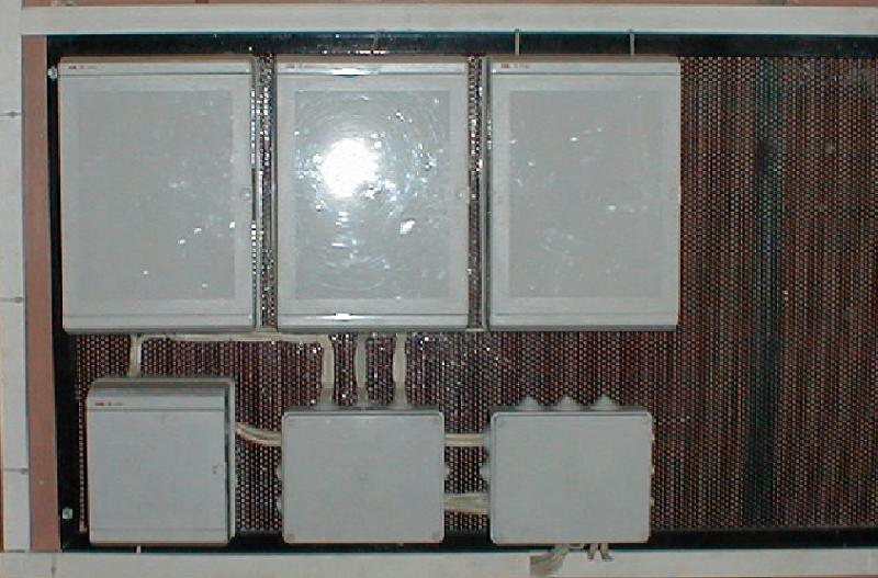 Внешний вид щита автоматики автоматизированного теплового пункта