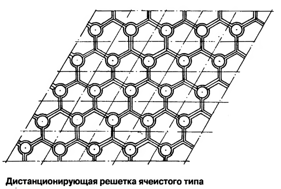 Дистанционирующая решетка ячеистого типа