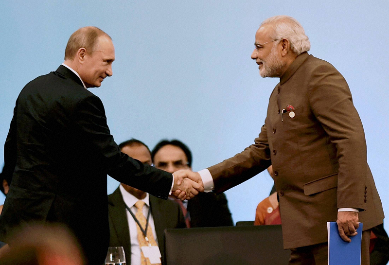 Владимир Путин и Нарендра Моди
