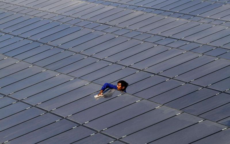 Солнечная электростанция в Индии