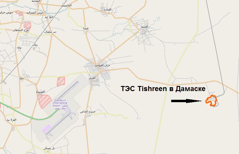 Сирийская ТЭС Tishreen в Дамаске