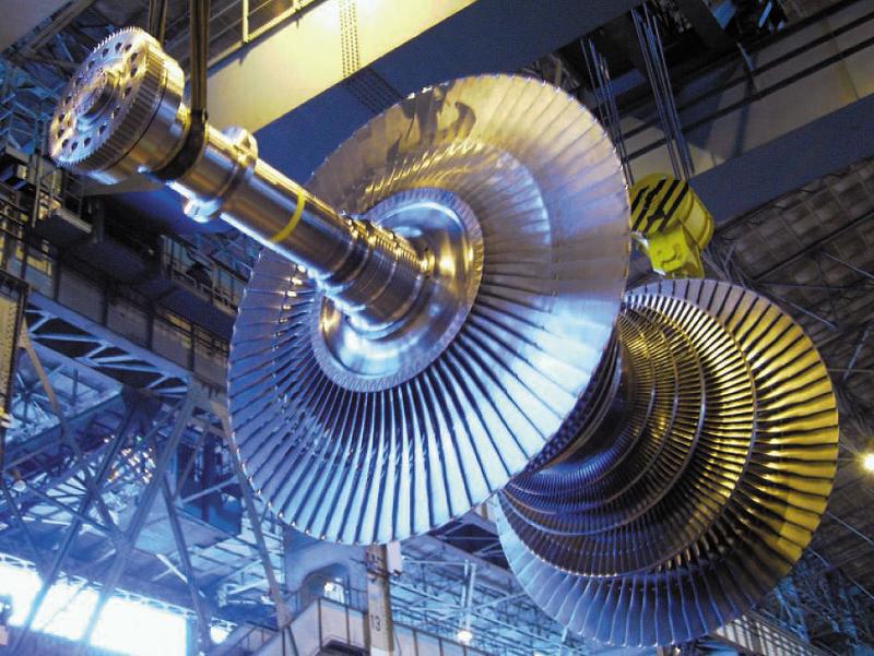 Ротор паровой турбины
