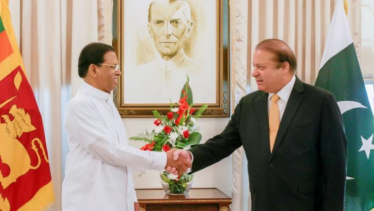 Президент Шри-Ланки и премьер-министр Пакистана