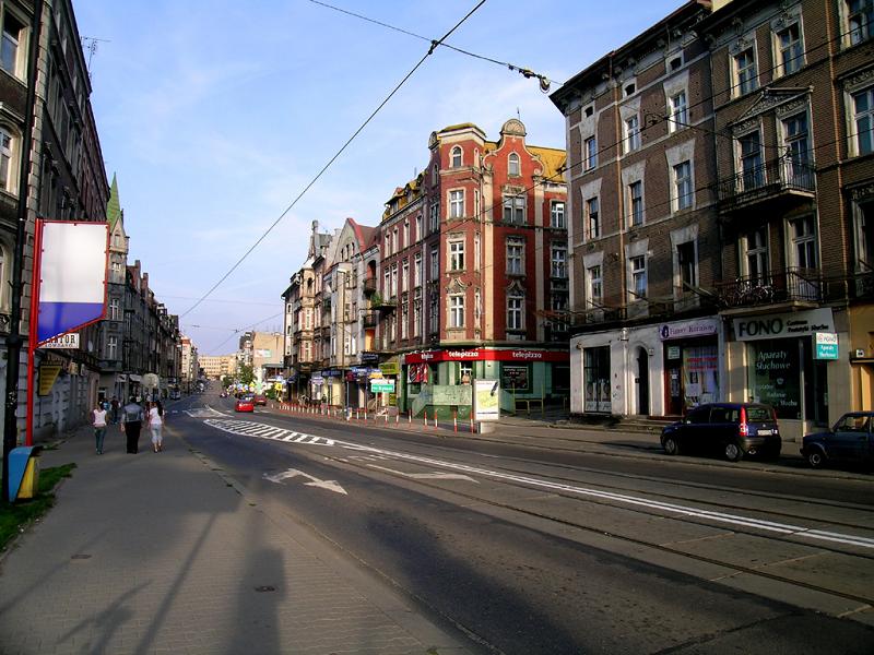 Город Забжа в Польше