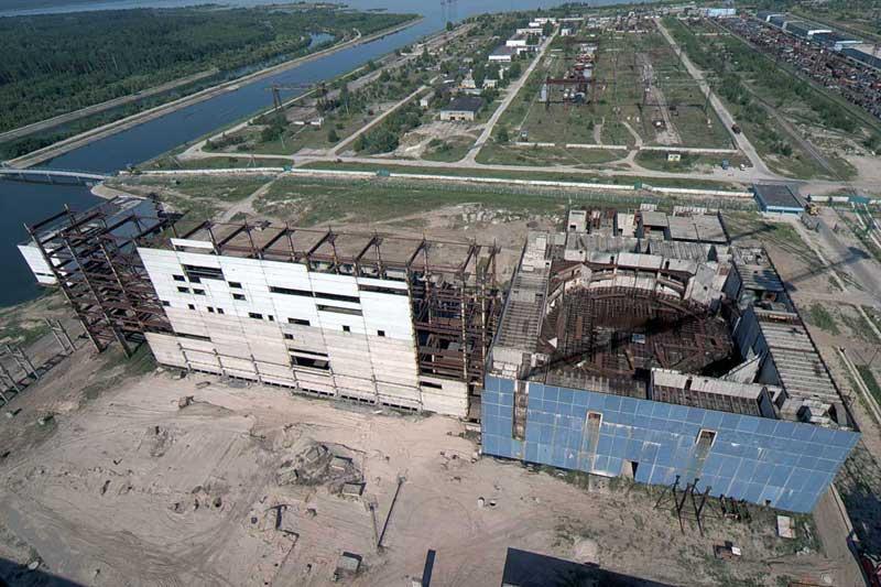 Недостроенный энергоблок номер 4 Хмельницкой АЭС