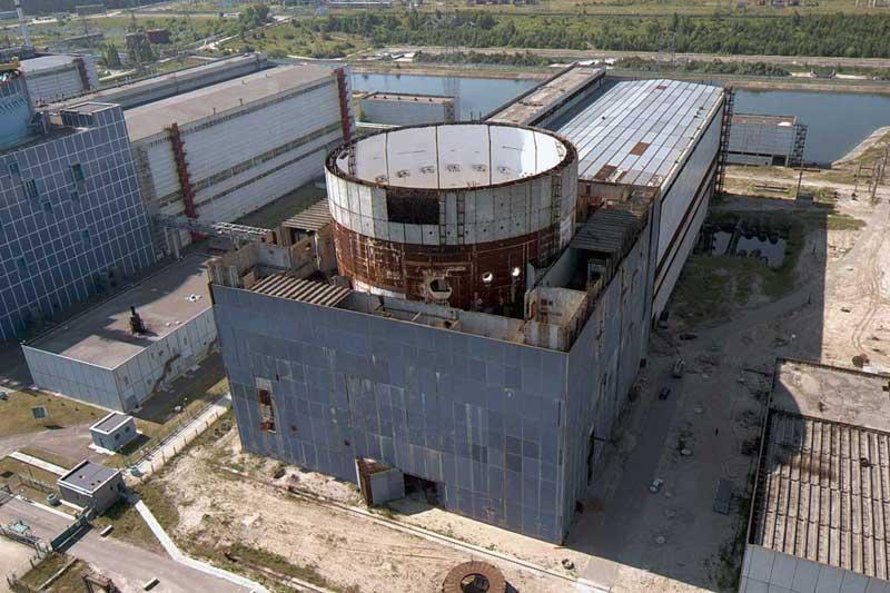 Недостроенный энергоблок номер 3 Хмельницкой АЭС