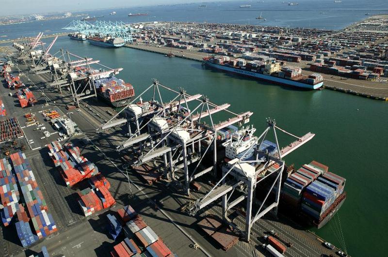 Морской порт в США