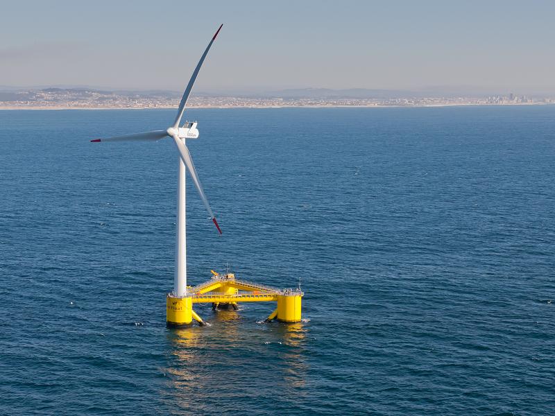 Плавающая ветряная турбина в Японии