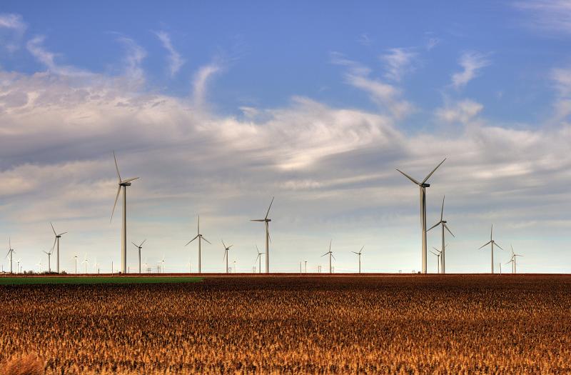 Ветряная электростанция Bison Wind Energy Center в Северной Дакоте, США